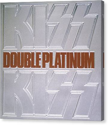 Kiss - Double Platinum Canvas Print by Epic Rights