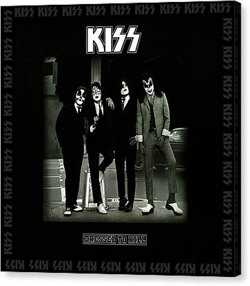 Kiss - Dressed To Kill Canvas Print by Epic Rights