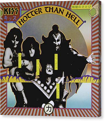 Kiss - Hotter Than Hell Canvas Print by Epic Rights