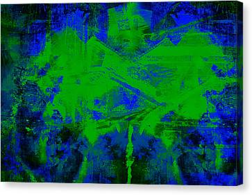 Kiss Of Green Canvas Print by Francine Collier