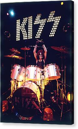Kiss - Peter Criss 1973 Canvas Print by Epic Rights