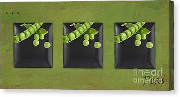 Kitchen Art - Peas - 02t01b Canvas Print by Aimelle
