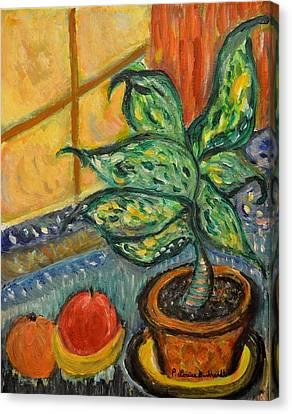 Kitchen Company Canvas Print by Louise Burkhardt