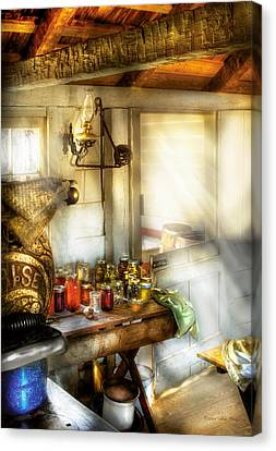 Kitchen - Doors Open Come And Get It Canvas Print by Mike Savad