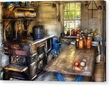 Kitchen - Home Country Kitchen  Canvas Print by Mike Savad