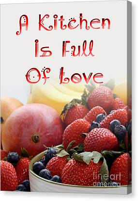 Kitchen Is Full Of Love 16 Canvas Print by Andee Design