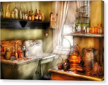 Kitchen - Momma's Kitchen  Canvas Print by Mike Savad