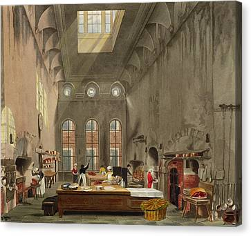 Kitchen, St. Jamess Palace, Engraved Canvas Print by James Stephanoff