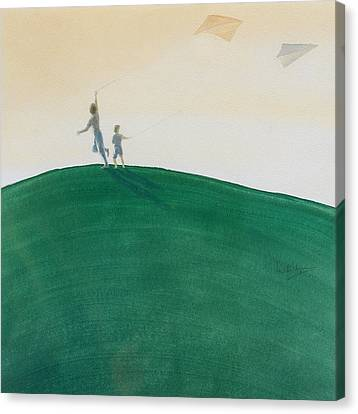 Kite Flying Canvas Print by Lincoln Seligman