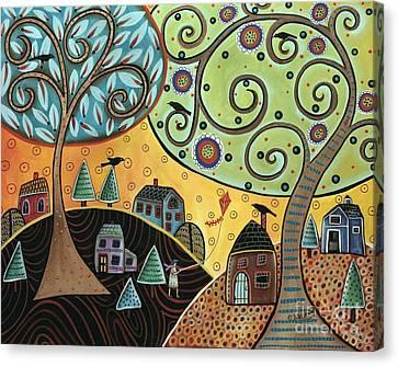 Kite Lady Canvas Print by Karla Gerard