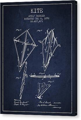 Kite Patent From 1892 Canvas Print by Aged Pixel