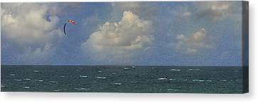 Kite Surfer Canvas Print by Michael Moschogianis