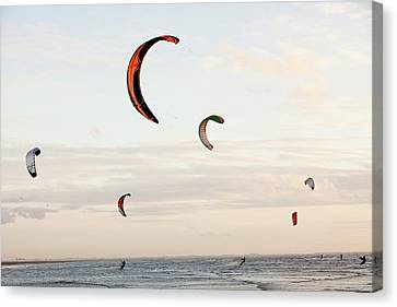 Kite Surfers Canvas Print by Ashley Cooper