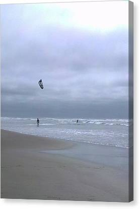 Kite Surfing Canvas Print by Heather L Wright