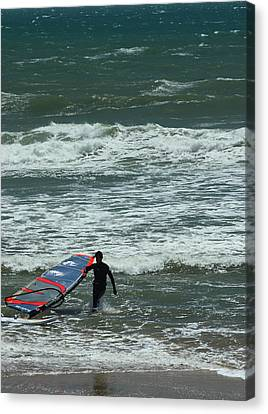 Kiteboarder Pacific Coast Highway Canvas Print by Gail Maloney