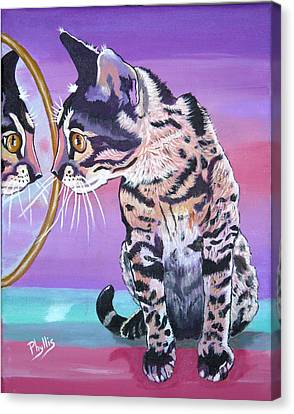 Kitten Image Canvas Print by Phyllis Kaltenbach