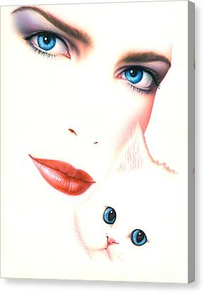 Kitten Love Canvas Print by Andrew Farley
