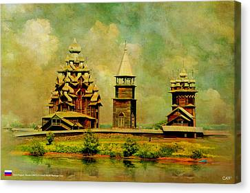 Kizhi Pogost Canvas Print by Catf