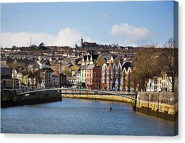Kneeling Canoe, River Lee, Cork City Canvas Print by Panoramic Images