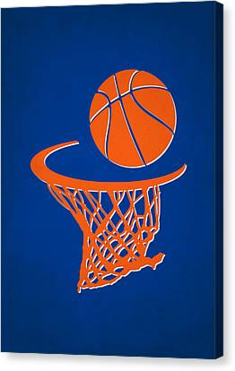 Knicks Team Hoop2 Canvas Print by Joe Hamilton