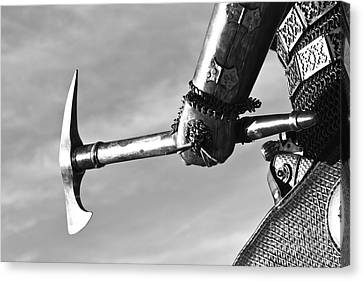 Knight And Axe Canvas Print by Holly Martin