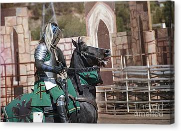 Knight And His Horse Canvas Print by Juli Scalzi