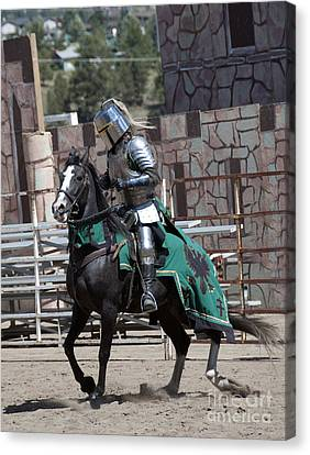 Knight In Shining Armor Canvas Print by Juli Scalzi