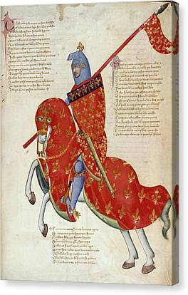 Knight Of Prato Canvas Print by British Library
