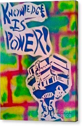 Knowledge Is Power 2 Canvas Print by Tony B Conscious