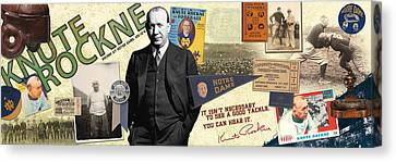 Knute Rockne Panoramic Canvas Print by Retro Images Archive