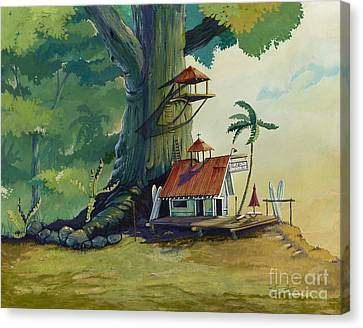 Ko' Olau Surf Shack Canvas Print by Bill Shelton