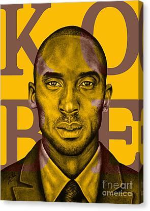 Kobe Bryant Lakers' Gold Canvas Print by Rabab Ali