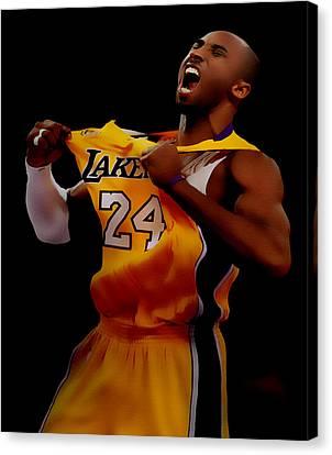 Kobe Bryant Sweet Victory Canvas Print by Brian Reaves