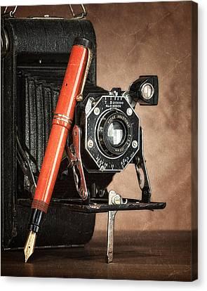Kodak And Parker Still Life Canvas Print by Tom Mc Nemar