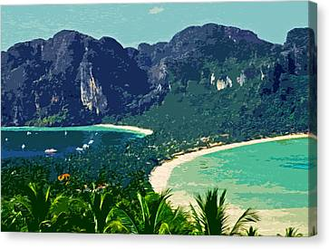 Koh Phi Phi ... Canvas Print by Juergen Weiss