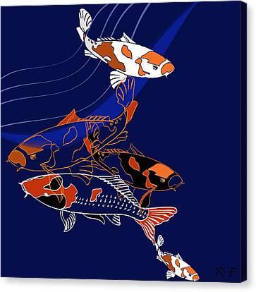 Koi Canvas Print by Anna Platts
