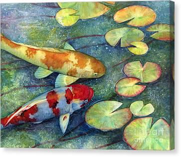 Koi Garden Canvas Print by Hailey E Herrera