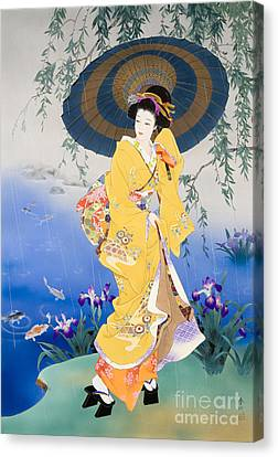 Koi Canvas Print by Haruyo Morita