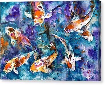 Koi Impression Canvas Print by Zaira Dzhaubaeva