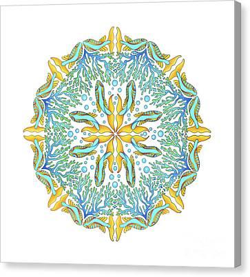 Koi Mandala Canvas Print by Stephanie Troxell