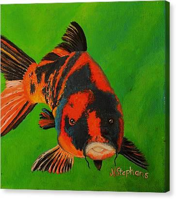 Koi Canvas Print by Nina Stephens