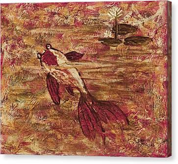 Koi Pond Canvas Print by Darice Machel McGuire