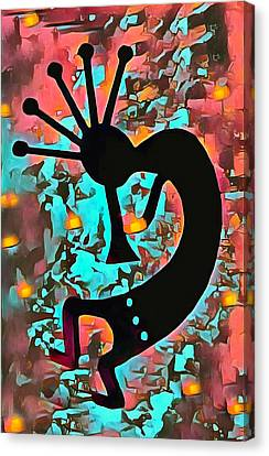 Kokopelli The Flute Player Canvas Print by Barbara Snyder
