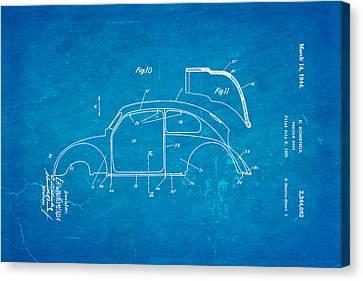 Komenda Vw Beetle Body Design Patent Art 2 1944 Blueprint Canvas Print by Ian Monk