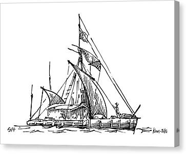 Kon-tiki Balsa Raft Canvas Print by Gary Hincks