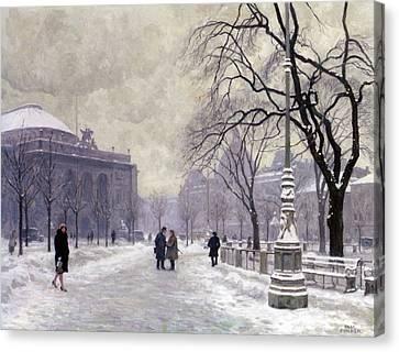 Kongens Nytorv Copenhagen Canvas Print by Paul Gustav Fischer