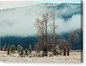 Kootenai Frost Canvas Print by Annie Pflueger