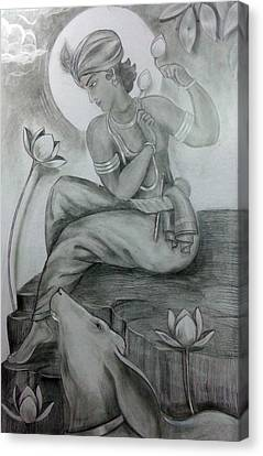 Krishna Canvas Print by Mayur Sharma