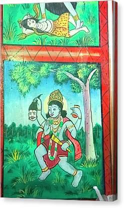 Krishna, Shree Laxmi Narihan Ji Hindu Canvas Print by Inger Hogstrom