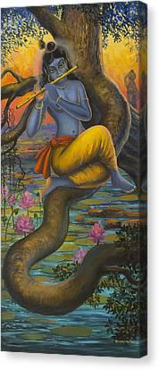Krishna Vasuri Canvas Print by Vrindavan Das
